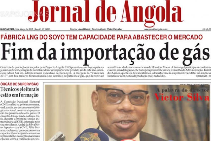 Jornal de Angola: No futuro, o passado são migalhas!
