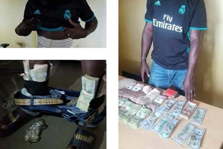 Angolano detido a tentar passar fronteira com 34.000 euros em notas coladas ao corpo