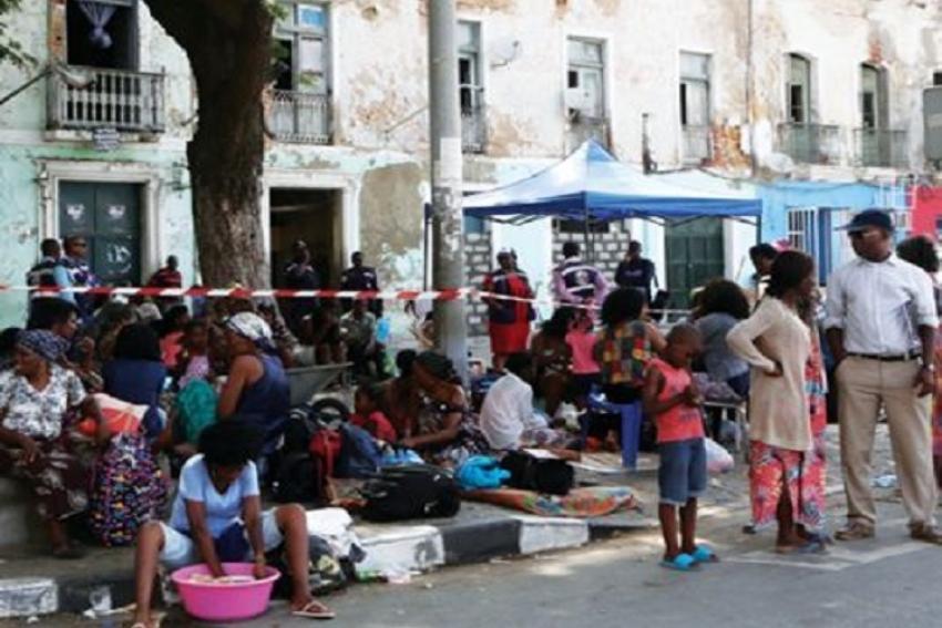 Famílias do edifício Enfante Dom Henriques transferidas para o Zango 4