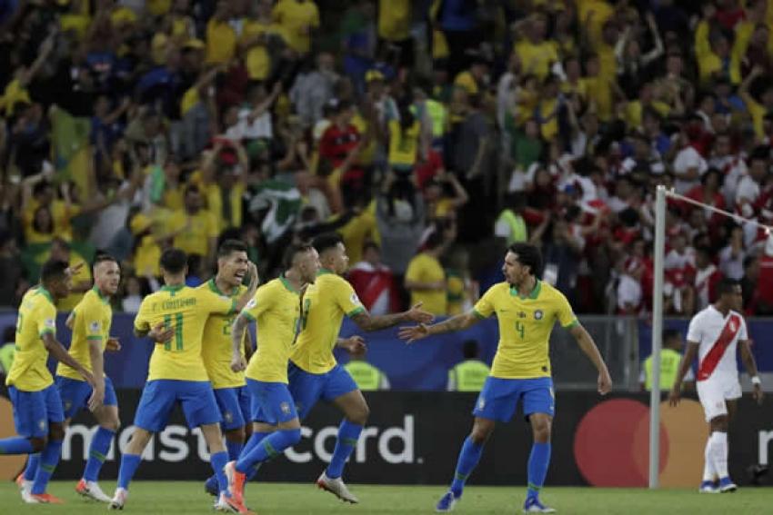 Brasil supera expulsão, faz 3 a 1 no Peru e conquista a Copa América