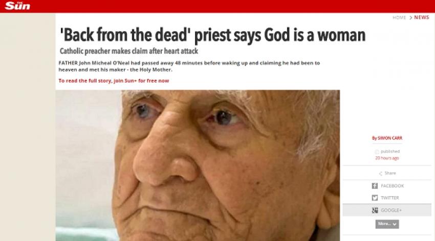 Padre morre e Ressuscita afirma que Deus é mulher