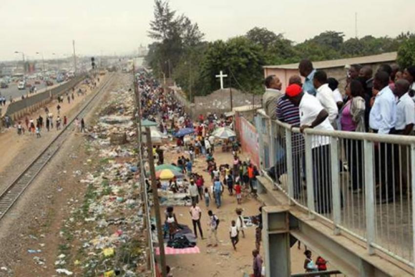 Mulher morre colhida por comboio em Luanda e é a sexta vítima este ano